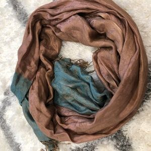 Accessories - ROSE GOLD + TURQUOISE SCARF/HEADWRAP